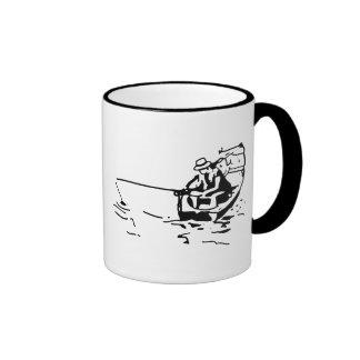 Don't Worry...FISH!! Fishing boat ceramic mug