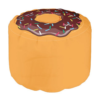 Donut Novelty Chocolate Frosting Sprinkles Pouf