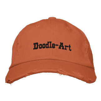 Doodle-Art Embroidered Hat