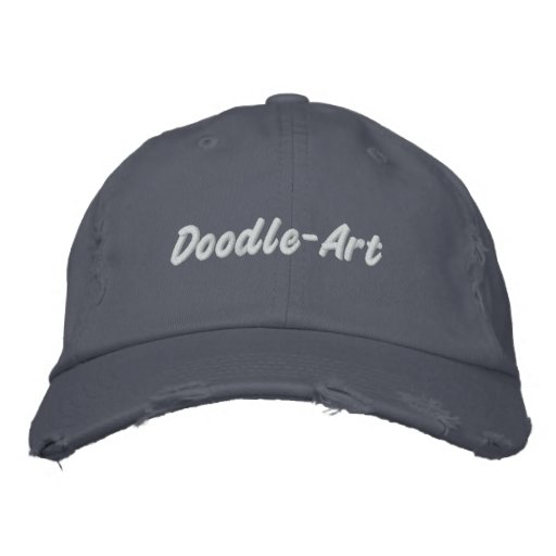 Doodle-Art Embroidered Hats