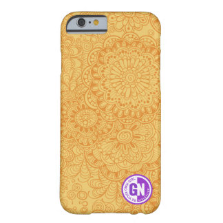 Doodle Flowers iPhone 6/6s case in Tangerine Barely There iPhone 6 Case