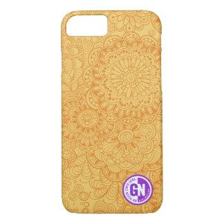 Doodle Flowers iPhone 7 case in Tangerine