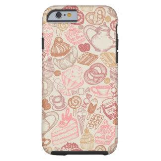 Doodle food pattern dessert tough iPhone 6 case