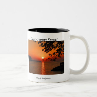 Door County Sunset Two-Tone Coffee Mug