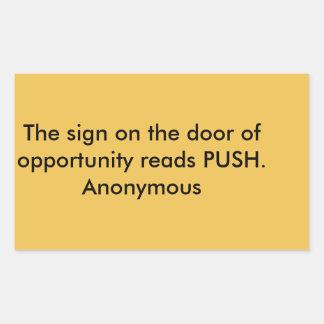 Door of Opportunity Rectangular Sticker