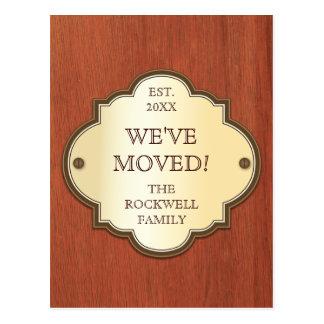 Door Plaque Moving Announcement Postcard