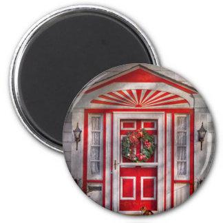 Door - Winter - Christmas kitty Fridge Magnets