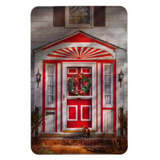 Door - Winter - Christmas kitty Magnets