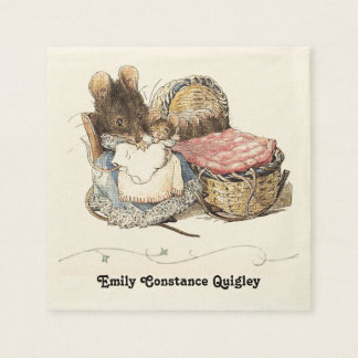 Dormouse Mother and Child Disposable Serviettes