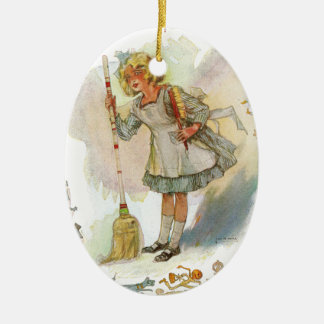 Dorothy Does Housework Vintage Oz Ceramic Oval Decoration