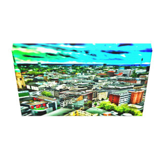 Dortmund from above gallery wrap canvas