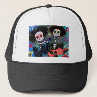 Dos Amigos Dia de los Muertos Trucker Hat