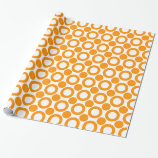 Dot 3 Orange Wrapping Paper