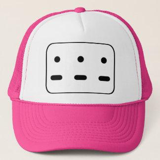 DOT DOT DOT DASH DASH DASH Pink Trucker Hat