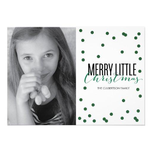 Dot Green Festive Holiday Photo Card
