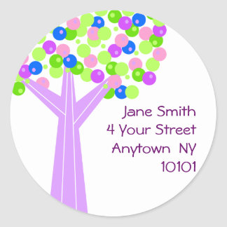 Dotberry Tree Address Label Round Sticker