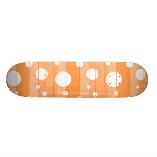 Dots and Stripes in Orange 21.6 Cm Skateboard Deck