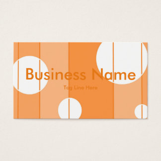 Dots and Stripes in Orange Business Card