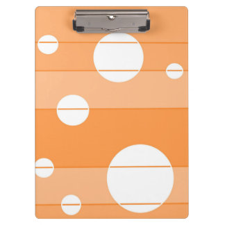 Dots and Stripes in Orange Clipboard