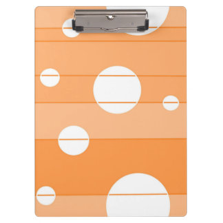 Dots and Stripes in Orange Clipboards