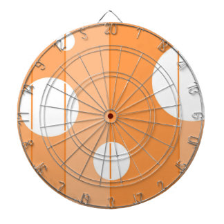 Dots and Stripes in Orange Dartboards