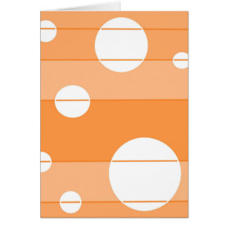 Dots and Stripes in Orange Greeting Card