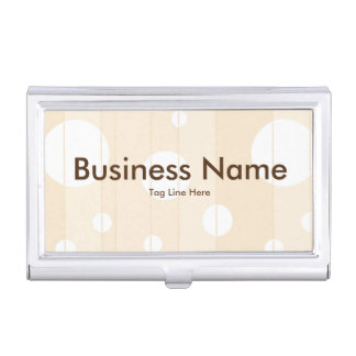 Dots and Stripes in Vanilla Business Card Case
