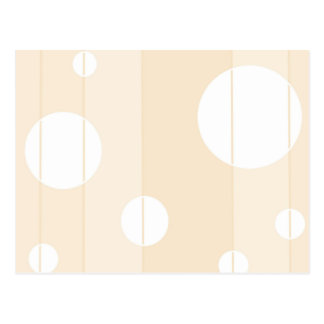 Dots and Stripes in Vanilla Postcard