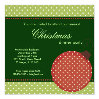 Dots Christmas dinner Invitation