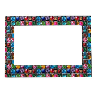 Dots Circles  Shades Pattern Sparkle Spectrum Magnetic Picture Frame