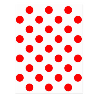 DOTS - DEEP ORANGE (a polka dot design) ~ Postcard
