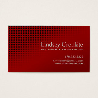 Dots Film Editor Hollywood Entertainment Industry Business Card