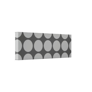 Dots on CANVAS - 36 x 12 x 2.5 - Upload your pic! Canvas Print