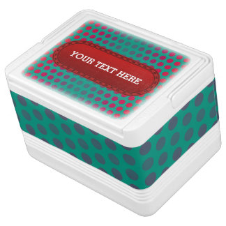 Dots Pattern full colored - green red Chilly Bin