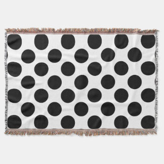 Dots seamless pattern black + your back throw blanket
