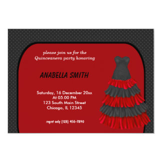 Dots Sweet Quinceanera 13 Cm X 18 Cm Invitation Card