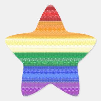 Dotted Rainbow Star Sticker