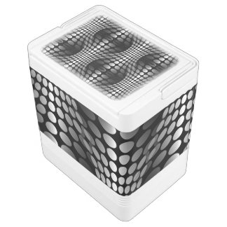 Dotted Waves Wallpaper black & white Chilly Bin