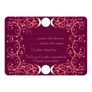 Double 3 in 1 Lesbian Wiccan Handfasting RSVP Card