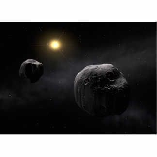 Double Asteroid Antiope Space Art Standing Photo Sculpture