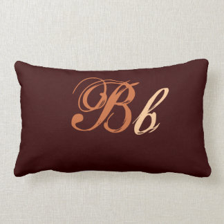 Double B Monogram in Brown and Beige Throw Cushions