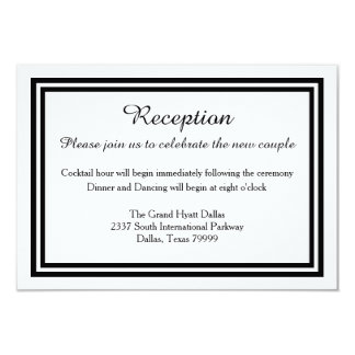 Double Black Trim-Reception Invitation