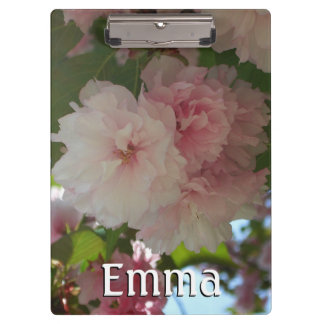 Double Blossoming Cherry Tree I Spring Floral Clipboard