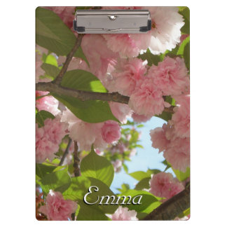 Double Blossoming Cherry Tree III Spring Floral Clipboard