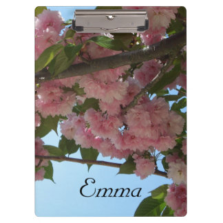 Double Blossoming Cherry Tree IV Pink Spring Clipboard