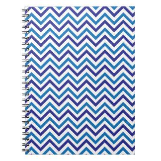 Double Blue Chevron Notebooks