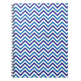 Double Blue Chevron Spiral Notebook