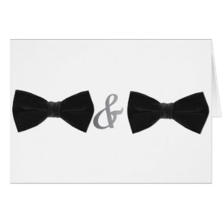 double bowties greeting card