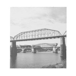 Double Bridge Black and White Photography Notepad
