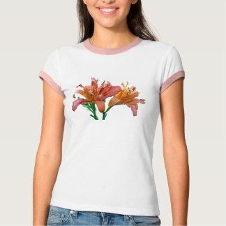 Double Daylilies Pink-Orange T-Shirt